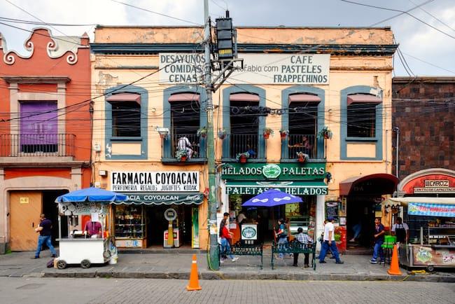 Coyoacán Viertel in Mexiko-Stadt