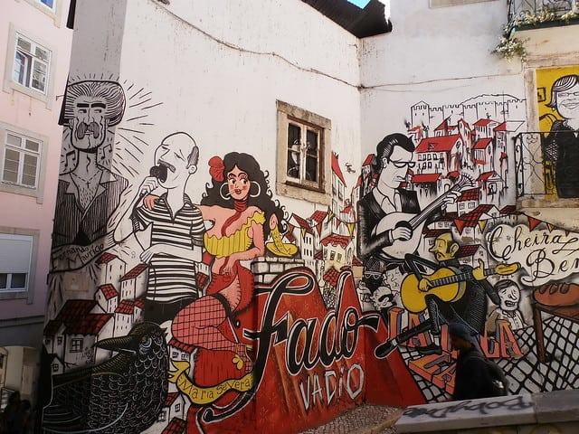 Fado Street Art in Lissabon