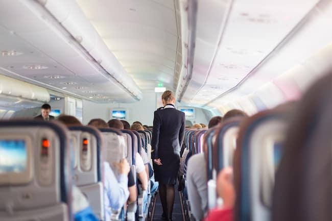 Stewardess Flugzeug