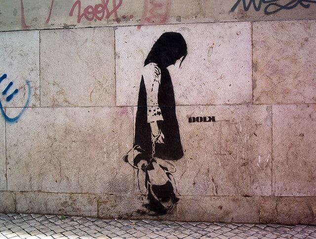 Street Art in Lissabon Bairro Alto