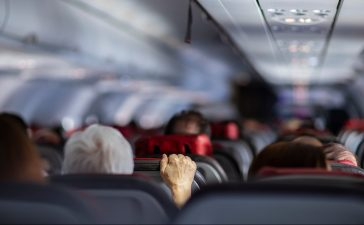 Turbulenzen im Flugzeug
