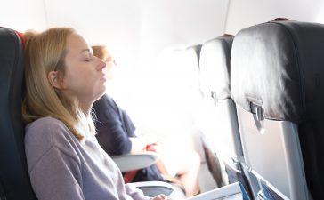 Rückenschmerzen im Flugzeug